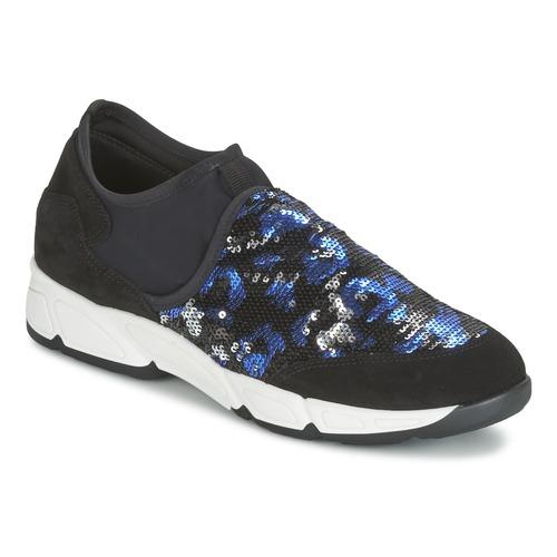 Chaussures Femme Slip ons Meline LEO Noir / Bleu