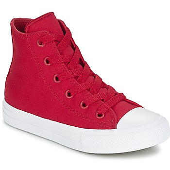 Chaussures Enfant Baskets montantes Converse CHUCK TAYLOR ALL STAR II TENCEL CANVAS HI Rouge