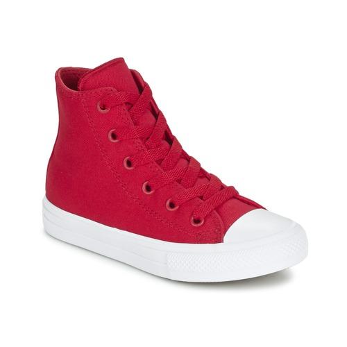 Chaussures Enfant Baskets montantes Converse CHUCK TAYLOR ALL STAR II TENCEL CANVAS HI Rouge