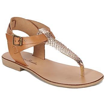 Chaussures Femme Sandales et Nu-pieds Betty London VITAMO Camel / Rose