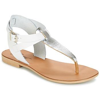 Chaussures Femme Sandales et Nu-pieds Betty London VITAMO Argent / Blanc