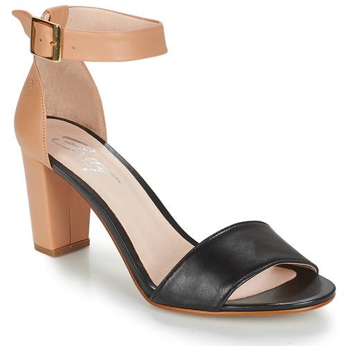 Chaussures Femme Sandales et Nu-pieds Betty London CRETOLIA Nude / Noir