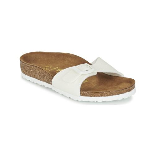 Chaussures Fille Mules Birkenstock MADRID Blanc pailleté