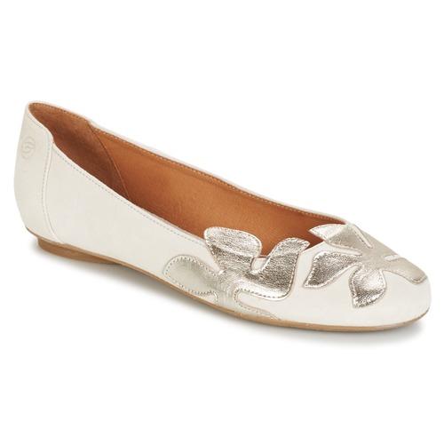 Chaussures Femme Ballerines / babies Betty London ERUNE Blanc / Argent