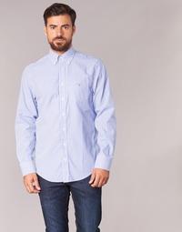 Vêtements Homme Chemises manches longues Gant THE POPLIN BANKER Bleu