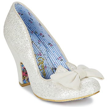 Chaussures Air max tnFemme Escarpins Irregular Choice NICK OF TIME Blanc pailleté