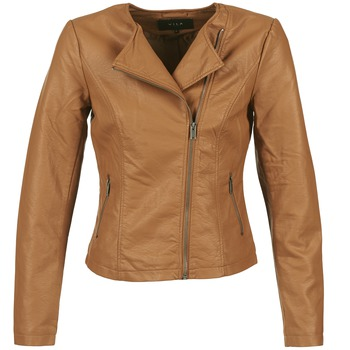 Vêtements Femme Vestes en cuir / synthétiques Vila VISINNA Cognac