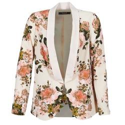 Vêtements Femme Vestes / Blazers Vila VIFLOURISH BLAZER Beige / Fleuri