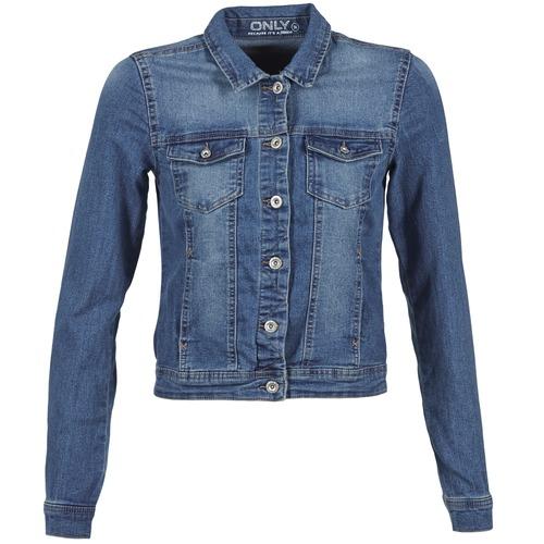 Vêtements Femme Vestes en jean Only NEW WESTA Bleu medium