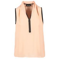 Vêtements Femme Tops / Blouses Only FIA ZIP Orange pastel / Noir