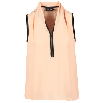 Vêtements Femme Tops / Blouses Only FIA ZIP Orange pastel / Noir
