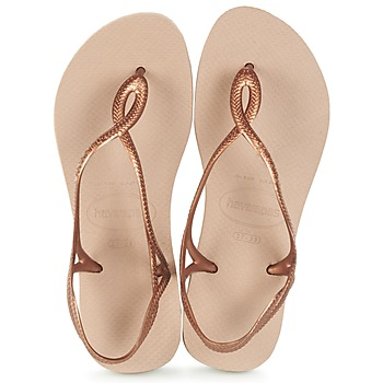 Chaussures Femme Tongs Havaianas LUNA Bronze