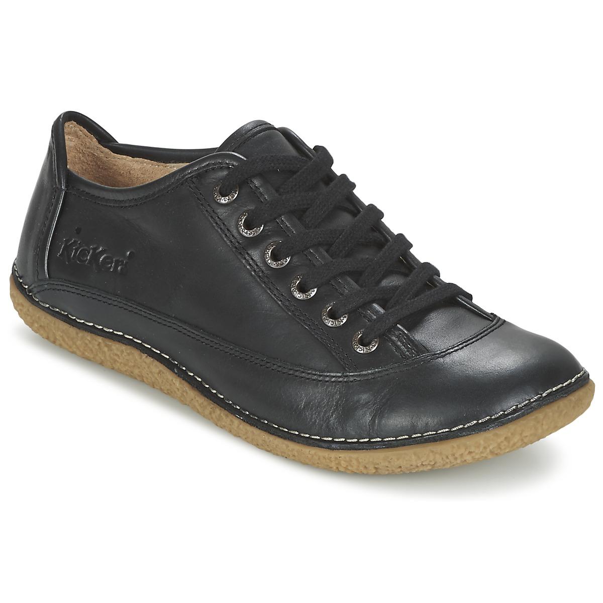 kickers hollyday noir chaussure pas cher avec chaussures derbies femme 76 30. Black Bedroom Furniture Sets. Home Design Ideas