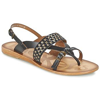 Chaussures Femme Sandales et Nu-pieds Kickers NEWTONG Noir