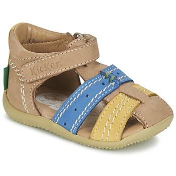 Sandale Kickers BIGBAZAR Beige / Bleu / Jaune