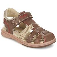 Chaussures Garçon Sandales et Nu-pieds Kickers PLATINIUM Marron