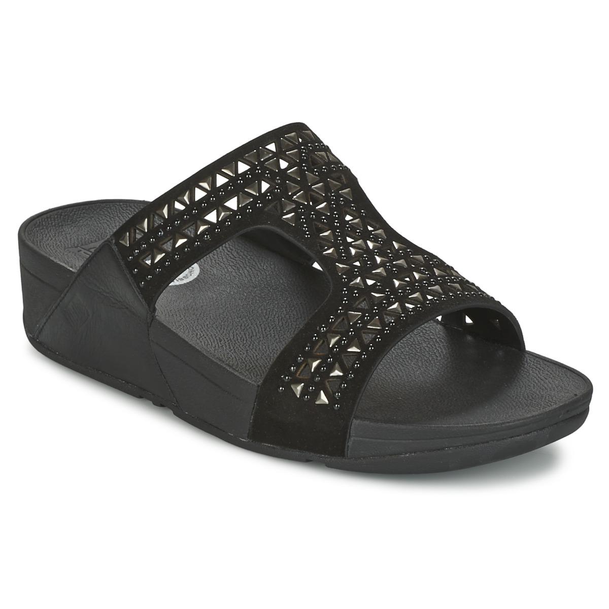 fitflop carmel slide noir chaussure pas cher avec chaussures mules femme 95 20. Black Bedroom Furniture Sets. Home Design Ideas