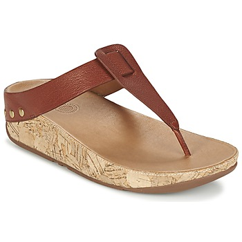 Chaussures Femme Tongs FitFlop IBIZA CORK Marron