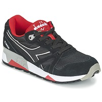 Chaussures Air max tnBaskets basses Diadora N9000 NYLON II Noir / Rouge