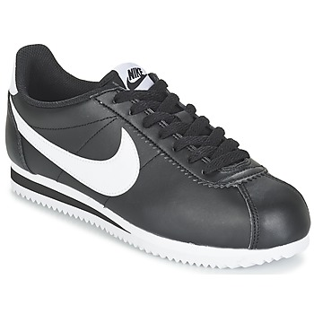 Chaussures Air max tnFemme Baskets basses Nike CLASSIC CORTEZ LEATHER W Noir / Blanc
