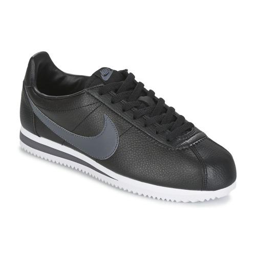 Nike Nike Nike CLASSIC CORTEZ LEATHER Noir Gris Chaussure pas cher avec 248226