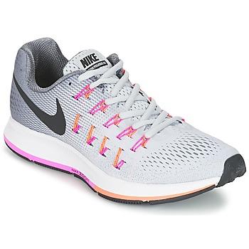 Chaussures-de-running Nike AIR ZOOM PEGASUS 33 W Gris / Rose