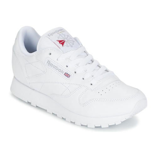 4f7b1aed996563 Reebok Classic CLASSIC LEATHER Blanc - Chaussure pas cher avec Shoes ...