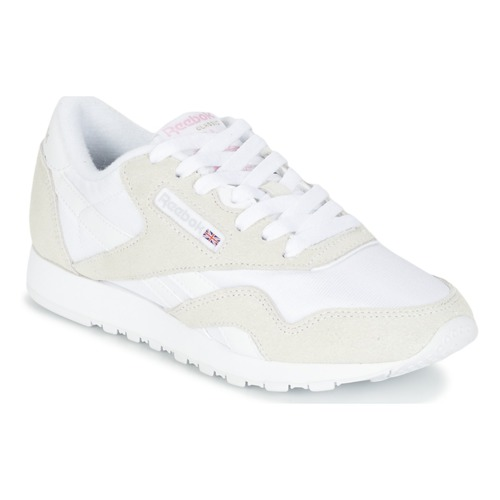 0f3ed69be3a Chaussures Femme Baskets basses Reebok Classic CLASSIC NYLON Beige   Blanc