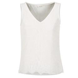 Vêtements Femme Débardeurs / T-shirts sans manche Naf Naf LADALIA Ecru