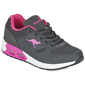 Chaussures Fille Baskets basses Kangaroos KANGA X Gris / Rose