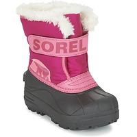Chaussures Enfant Bottes de neige Sorel CHILDRENS SNOW COMMANDER Rose
