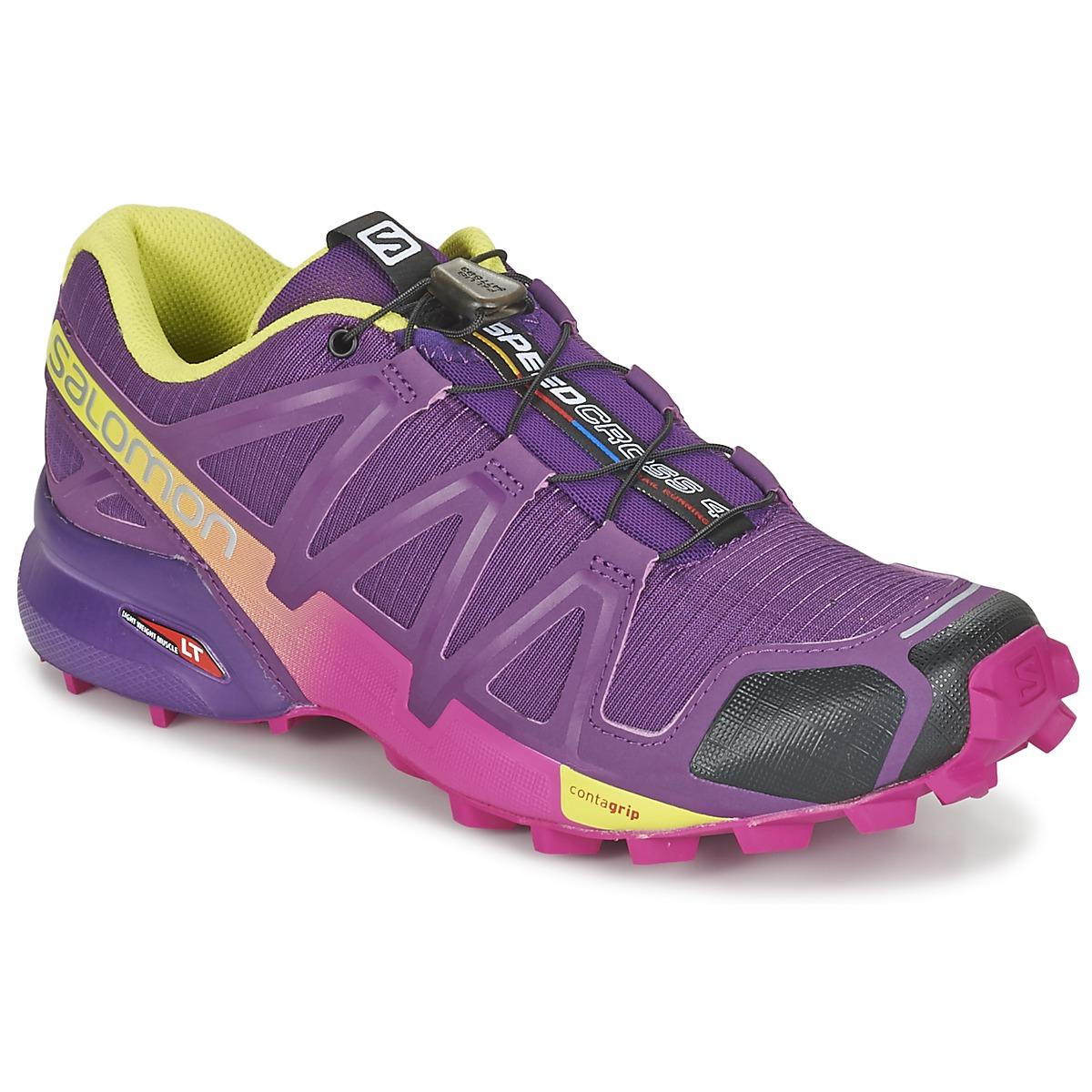 salomon speedcross 4 w violet jaune chaussure pas cher avec chaussures. Black Bedroom Furniture Sets. Home Design Ideas