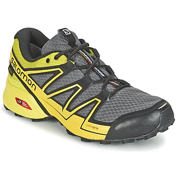 Chaussures-de-running Salomon SPEEDCROSS VARIO GTX® Gris / Vert / Jaune