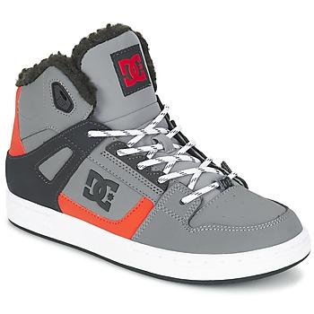 Basket montante DC Shoes REBOUND WNT B SHOE XSKN Gris / Noir / Orange