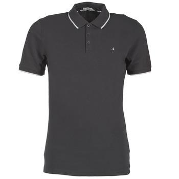 Vêtements Homme Polos manches courtes Calvin Klein Jeans PARK TIPPING SLIM FIT Noir
