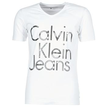 Vêtements Homme T-shirts manches courtes Calvin Klein Jeans TEMPEST VN SLIM FIT Blanc