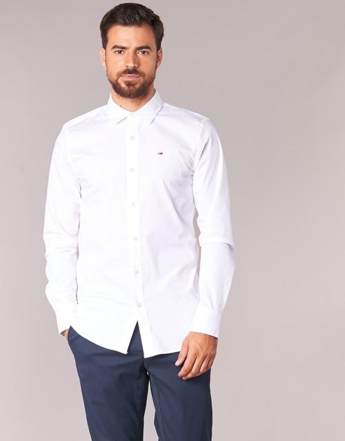 Vêtements Homme Chemises manches longues Tommy Jeans TJM Original Stretch Shirt Blanc