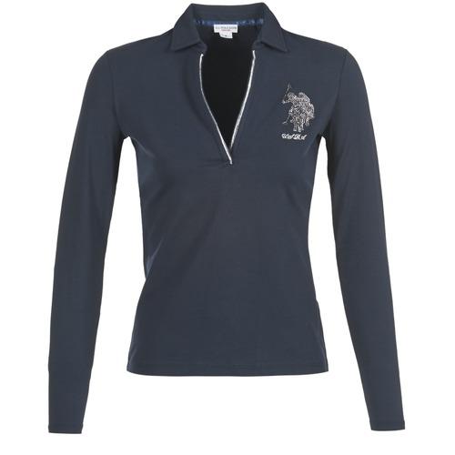 Vêtements Femme Polos manches longues U.S Polo Assn. CRISTINE Marine