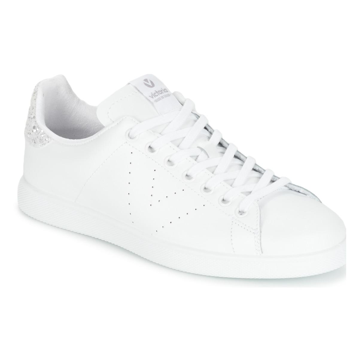 victoria deportivo basket piel blanc argent chaussure pas cher avec chaussures. Black Bedroom Furniture Sets. Home Design Ideas
