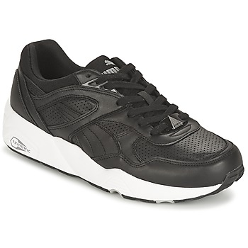 Chaussures Air max tnHomme Baskets basses Puma R698 CORE LEATHER Noir