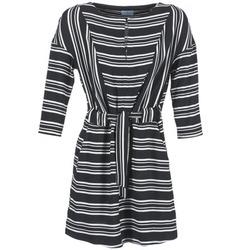 Vêtements Femme Robes courtes Loreak Mendian PILI Noir / Blanc