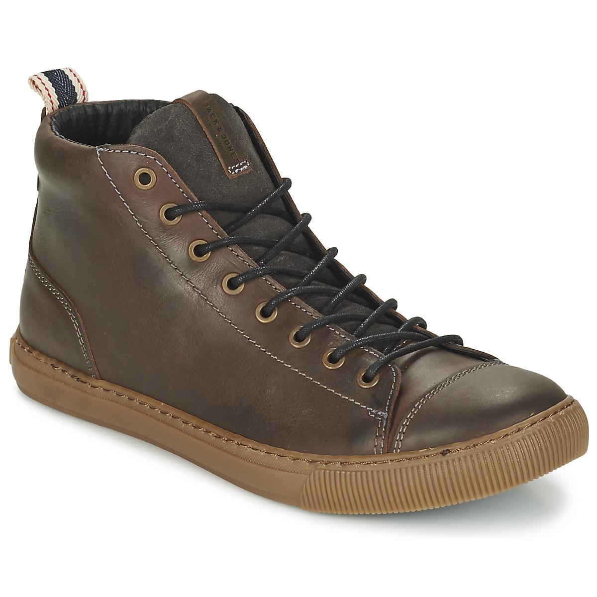 jack jones duran marron chaussure pas cher avec chaussures basket montante. Black Bedroom Furniture Sets. Home Design Ideas
