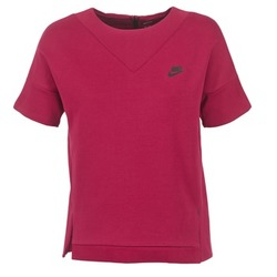 Vêtements Femme Sweats Nike TECH FLEECE CREW Bordeaux