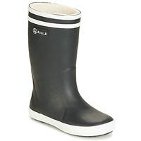 Chaussures Enfant Bottes de pluie Aigle LOLLY POP FUR Noir