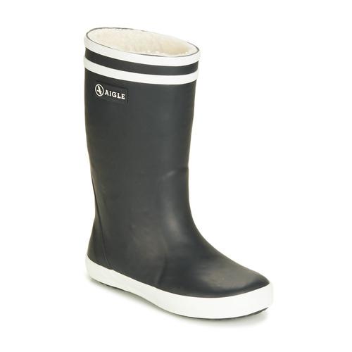 Chaussures Enfant Bottes de pluie Aigle LOLLY POP FUR marine