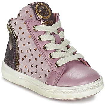 Chaussures Fille Baskets montantes Acebo's MARLIE Rose