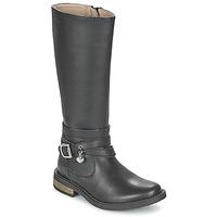 Chaussures Fille Bottes ville Garvalin IRATIA Noir
