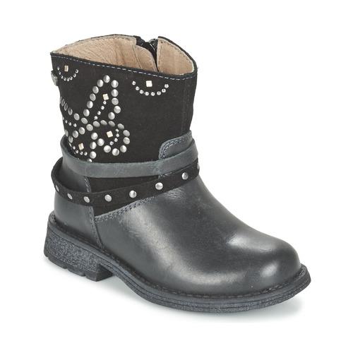 Chaussures Fille Boots Garvalin GENILA Noir