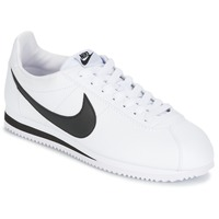 Chaussures Air max tnHomme Baskets basses Nike CLASSIC CORTEZ LEATHER Blanc / Noir