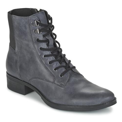 Chaussures Femme Boots Geox MENDI ST B Gris